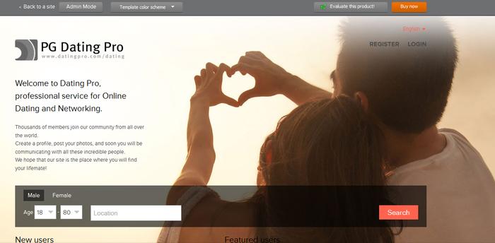 CMS сайта знакомств - новый шаблон в версии Flirt